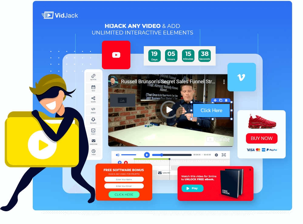 Add clickable elements to your video