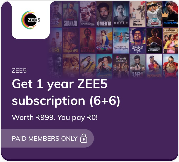 Zee5 Subscription